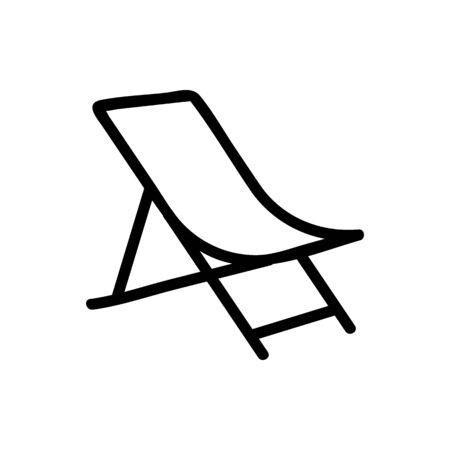 sagging fabric chaise longue icon vector. sagging fabric chaise longue sign. isolated contour symbol illustration
