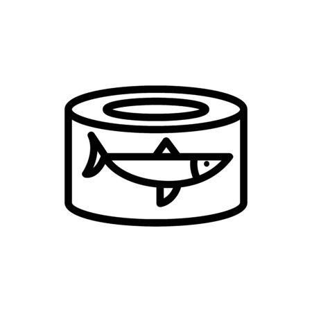 canned fish herring icon vector. canned fish herring sign. isolated contour symbol illustration Ilustración de vector