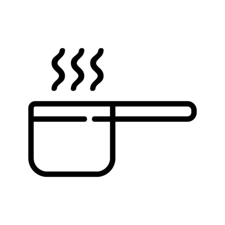 stewpan in cooking porridge icon vector. stewpan in cooking porridge sign. isolated contour symbol illustration