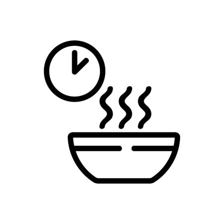 waiting time cooking porridge icon vector. waiting time cooking porridge sign. isolated contour symbol illustration Vettoriali