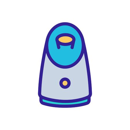 steam humidifier icon vector. steam humidifier sign. color symbol illustration