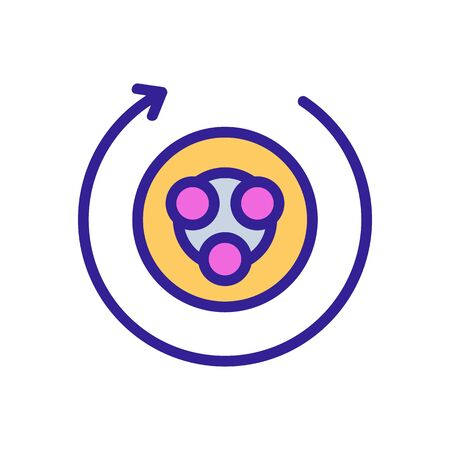 hand massagers sculptor circular for body icon vector. hand massagers sculptor circular for body sign. color symbol illustration