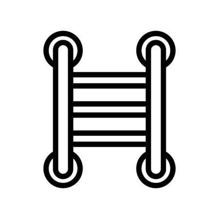 ladder heated towel rail icon vector. ladder heated towel rail sign. isolated contour symbol illustration