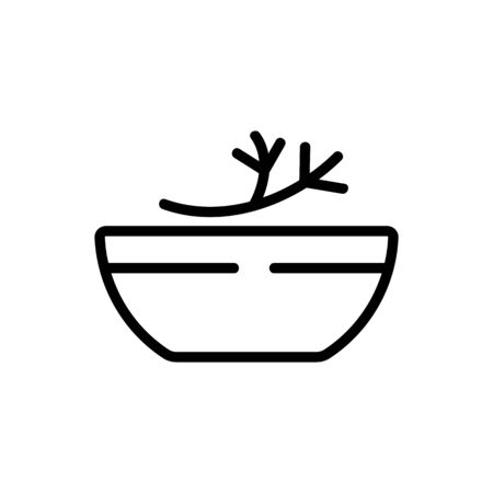 bowl of fennel icon vector. bowl of fennel sign. isolated contour symbol illustration