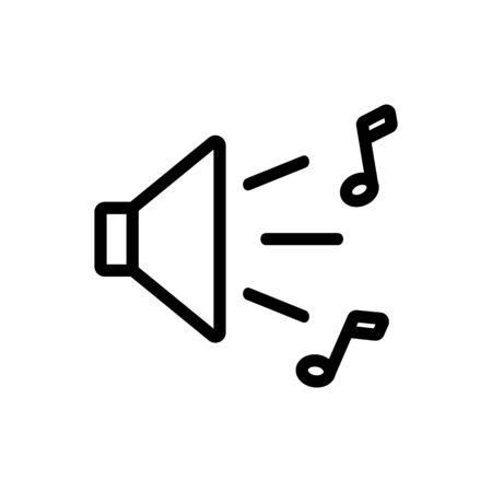 music sound icon vector. music sound sign. isolated contour symbol illustration