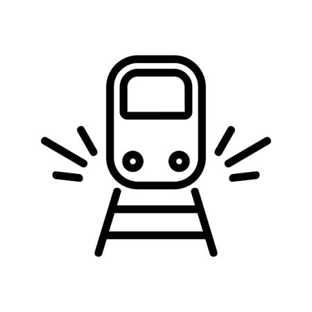 sound of approaching train icon vector. sound of approaching train sign. isolated contour symbol illustration