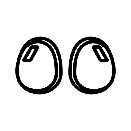 silicone breast suction cups icon vector. silicone breast suction cups sign. isolated contour symbol illustration