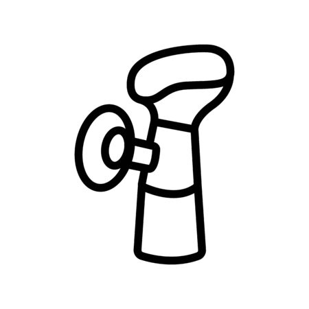 breast pump with suction cup icon vector. breast pump with suction cup sign. isolated contour symbol illustration