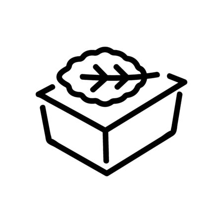 arugula in tray icon vector. arugula in tray sign. isolated contour symbol illustration