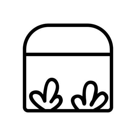 growing ruccola in greenhouse icon vector. growing ruccola in greenhouse sign. isolated contour symbol illustration