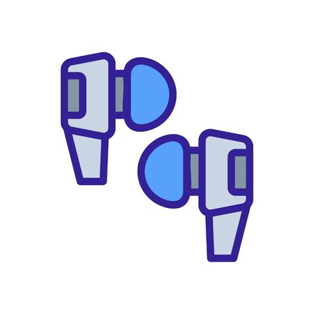 wireless earbuds with silicone tips icon vector. wireless earbuds with silicone tips sign. color symbol illustration