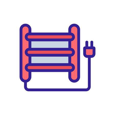 electric heated towel rail icon vector. electric heated towel rail sign. color symbol illustration
