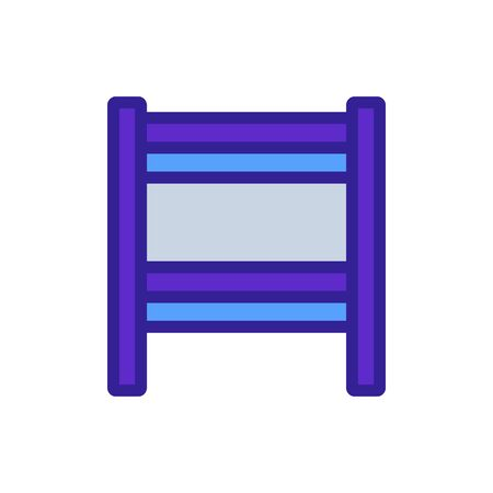 slit heated towel rail icon vector. slit heated towel rail sign. color symbol illustration Çizim