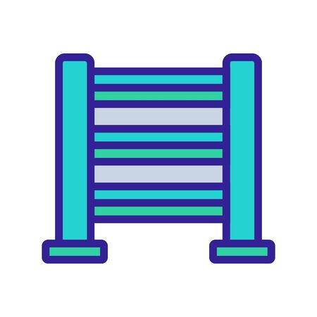 heated towel rail with horizontal holder icon vector. heated towel rail with horizontal holder sign. color symbol illustration
