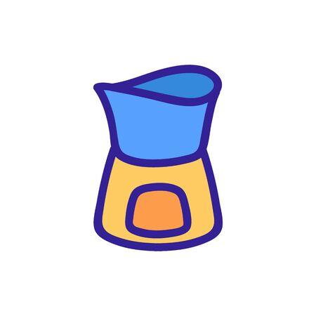 ceramic fondue stand icon vector. ceramic fondue stand sign. color symbol illustration Illustration