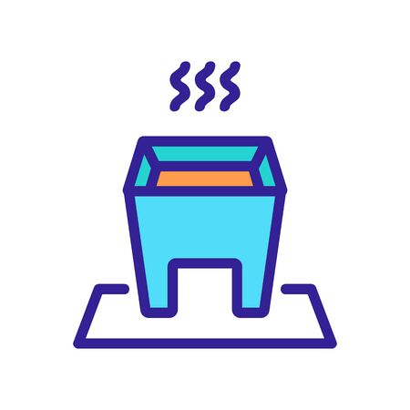 hot fondue with steady legs icon vector. hot fondue with steady legs sign. color symbol illustration  イラスト・ベクター素材