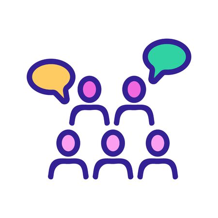 sound of saying people thoughts icon vector. sound of saying people thoughts sign. color symbol illustration  イラスト・ベクター素材