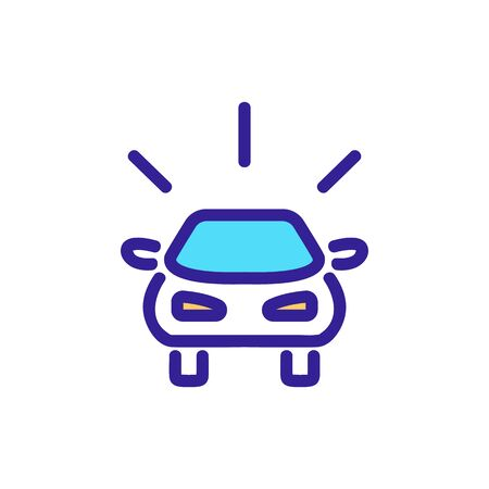 sound of approaching car icon vector. sound of approaching car sign. color symbol illustration