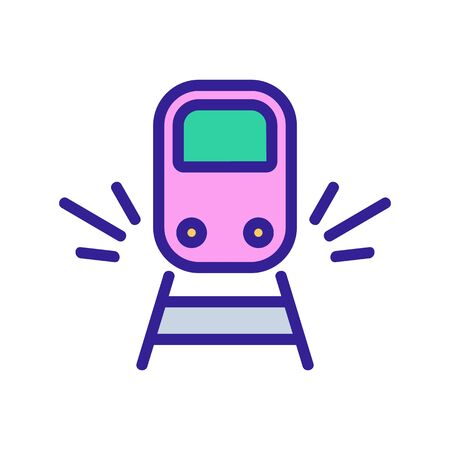 sound of approaching train icon vector. sound of approaching train sign. color symbol illustration
