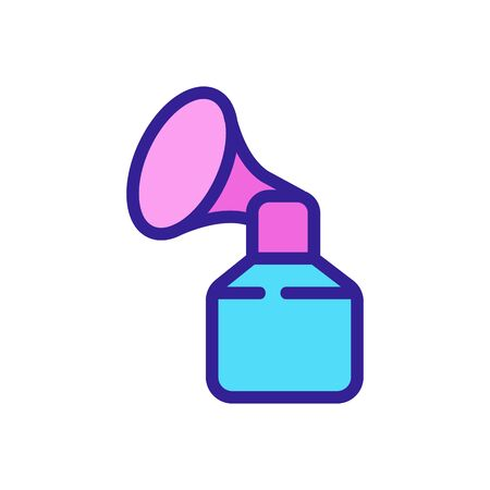 rubber suction cup breast pump icon vector. rubber suction cup breast pump sign. color symbol illustration Vectores