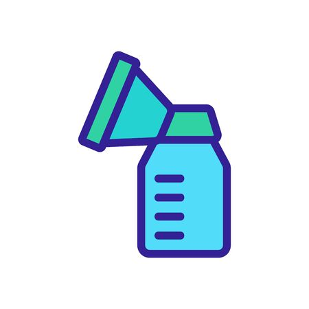 mechanical suction cup with measuring bottle icon vector. mechanical suction cup with measuring bottle sign. color symbol illustration