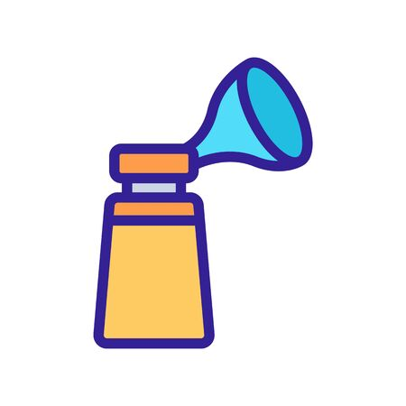 mechanical suction cup with breast pump icon vector. mechanical suction cup with breast pump sign. color symbol illustration Vectores