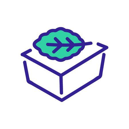 arugula in tray icon vector. arugula in tray sign. color symbol illustration Ilustrace