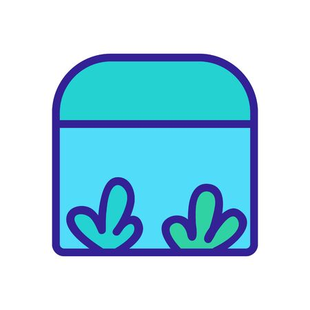 growing ruccola in greenhouse icon vector. growing ruccola in greenhouse sign. color symbol illustration Ilustrace