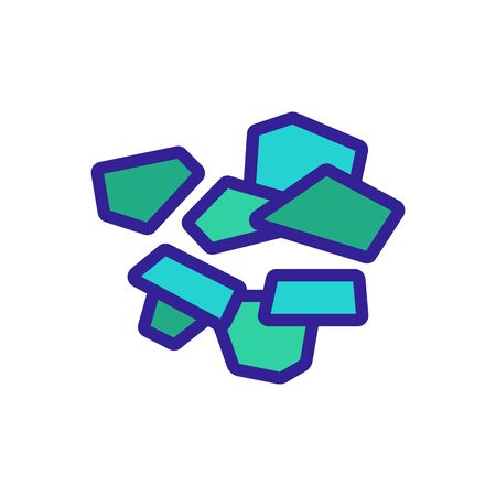 arugula pieces icon vector. arugula pieces sign. color symbol illustration Ilustrace