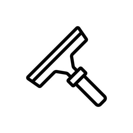 microfiber mop with adjustable handle icon vector. microfiber mop with adjustable handle sign. isolated contour symbol illustration