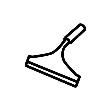 microfiber mop icon vector. microfiber mop sign. isolated contour symbol illustration Vectores