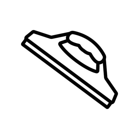 mop hand brush icon vector. mop hand brush sign. isolated contour symbol illustration