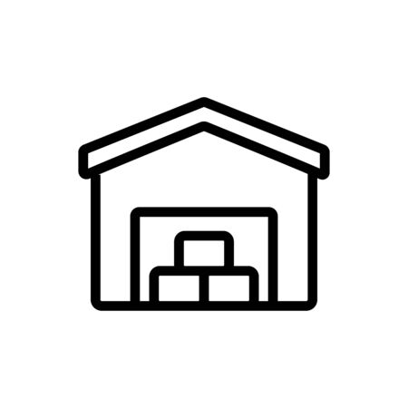 utility warehouse garage icon vector. utility warehouse garage sign. isolated contour symbol illustration
