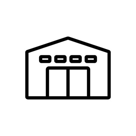service garage with alarm icon vector. service garage with alarm sign. isolated contour symbol illustration