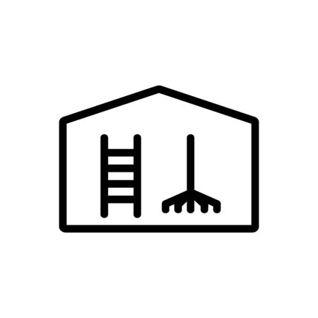 household equipment shed icon vector. household equipment shed sign. isolated contour symbol illustration