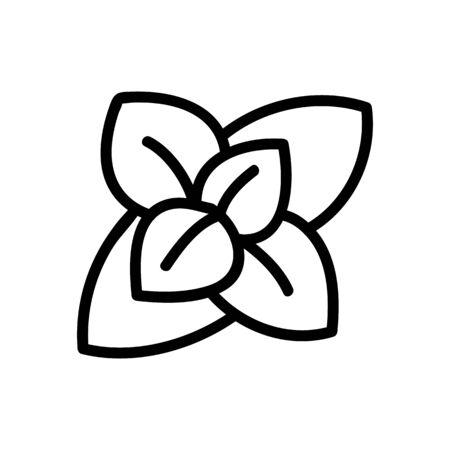 inflorescence of fragrant oregano icon vector. inflorescence of fragrant oregano sign. isolated contour symbol illustration Ilustração