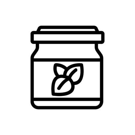 oregano seasoning jar icon vector. oregano seasoning jar sign. isolated contour symbol illustration