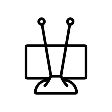 amplifier antennas designed specifically for digital television icon vector. amplifier antennas designed specifically for digital television sign. isolated contour symbol illustration