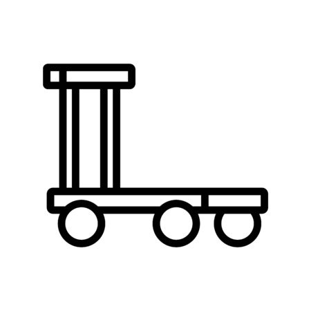 overall platform wheel trolley icon vector. overall platform wheel trolley sign. isolated contour symbol illustration Illustration