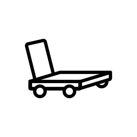 overall platform hand truck icon vector. overall platform hand truck sign. isolated contour symbol illustration