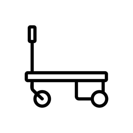 hydraulic trolley icon vector. hydraulic trolley sign. isolated contour symbol illustration