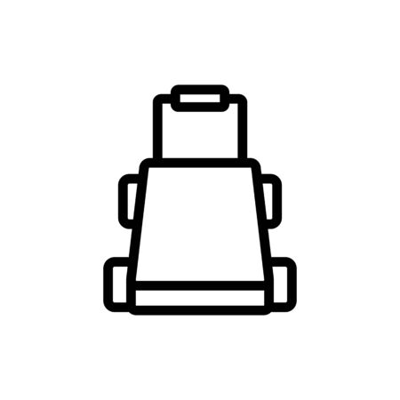 platform wheeled freight trolleys front view icon vector. platform wheeled freight trolleys front view sign. isolated contour symbol illustration Illustration