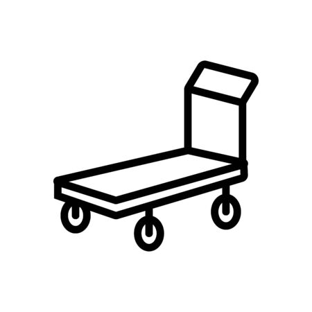 two wheeled trolleys front view icon vector. two wheeled trolleys front view sign. isolated contour symbol illustration