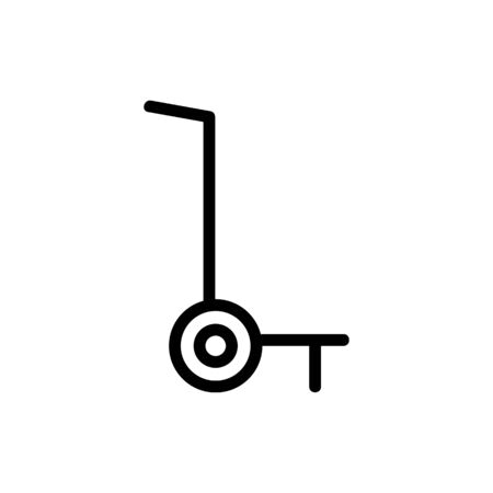 manual wheeled truck icon vector. manual wheeled truck sign. isolated contour symbol illustration