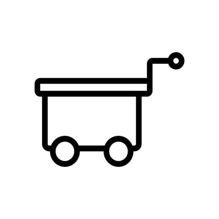 container freight trolleys icon vector. container freight trolleys sign. isolated contour symbol illustration