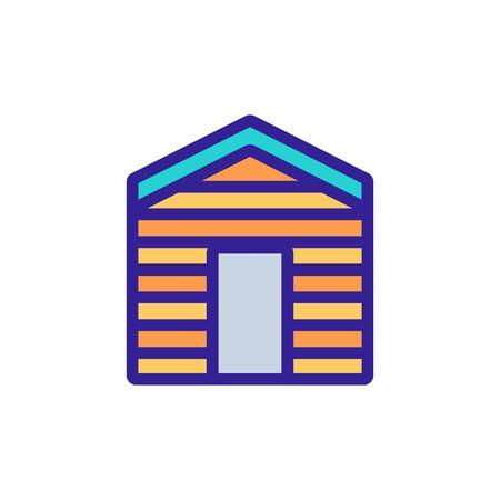 wooden utility garage icon vector. wooden utility garage sign. color symbol illustration
