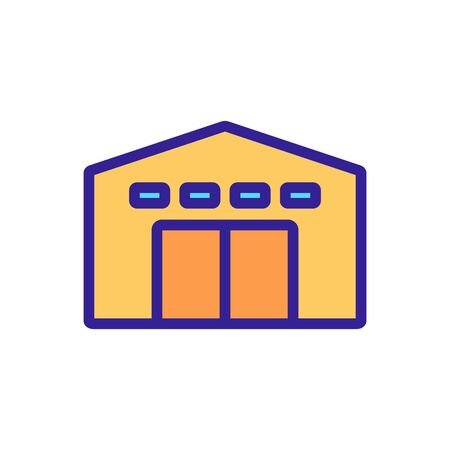 service garage with alarm icon vector. service garage with alarm sign. color symbol illustration