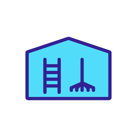 household equipment shed icon vector. household equipment shed sign. color symbol illustration
