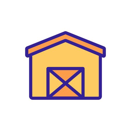 cross door shed icon vector. cross door shed sign. color symbol illustration