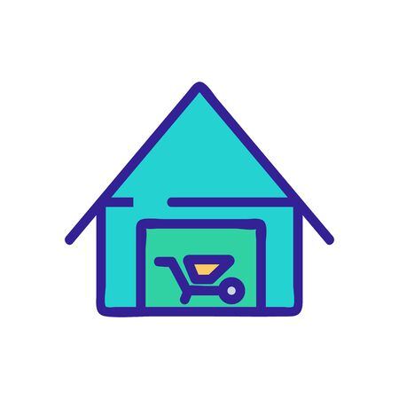 utility shed icon vector. utility shed sign. color symbol illustration Çizim
